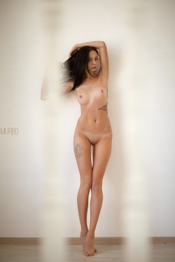 Adelina nude & with tan lines