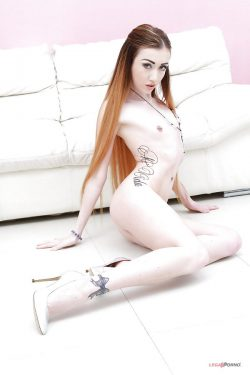 naked Jessi Empera shows her tattoos