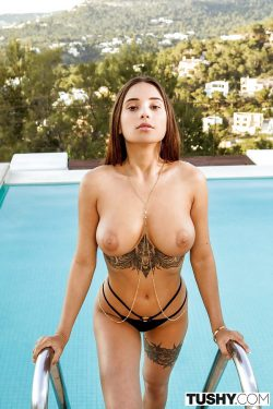 inked Liya Silver goes topless
