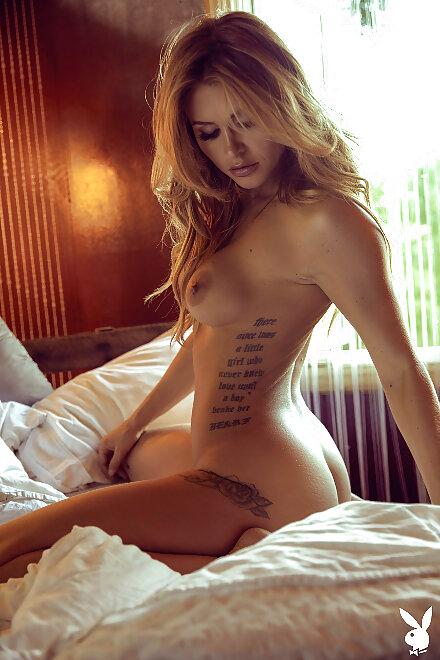 naked inked glamour model Ella Silver